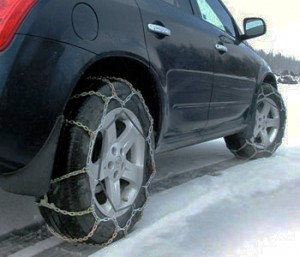 Tire Chains provide traction in some of the worst winter conditions